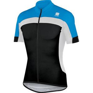 Sportful Pista Long Zip Jersey - Black/Blue/White