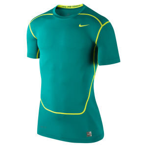 Nike Men's Core Compression Short Sleeve Top 2.0 - Turbo Green