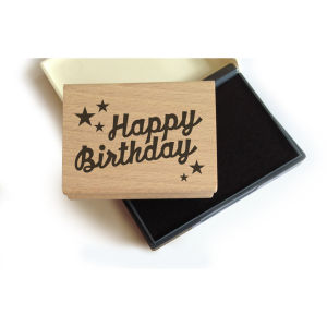 Lollipop Rubber Stamp Set: Happy Birthday