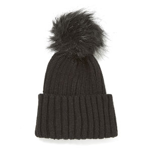 Impulse Women's Pom Pom Beanie - Black/Black