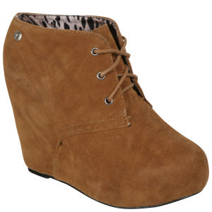 Blink Women's Suede Wedges - Light Brown