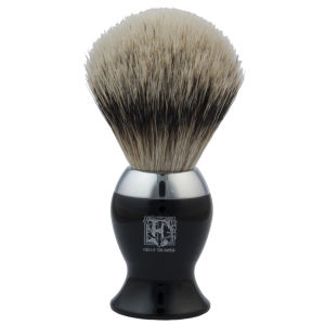 Geo. F. Trumper IB2BS Black & Chrome Super Badger Shaving Brush