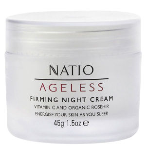 Crema reafirmante de noche Ageless de Natio (45 g)