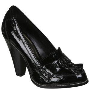Stylist Pick 'Tyler' Women's Tassel Heeled Loafer - Black