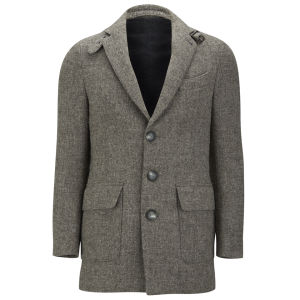 Knutsford Men's Suede Trim New Wool Blazer - Grey