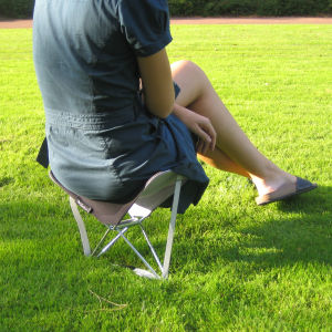 Y.Ply Portable Outdoor Seat and Back Rest - Grey