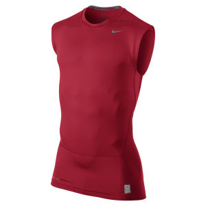 Nike Men's Core Compression Sleeveless Top - 2.0 Red