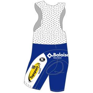 Vermac Topsport Vlaanderen Baloise Team Replica Bib Shorts - White/Blue