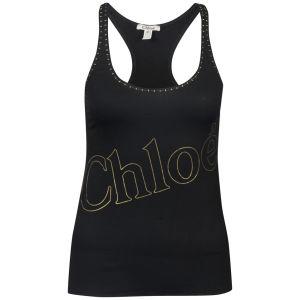 Chloe Women's Raceback Studded Vest Top - Black