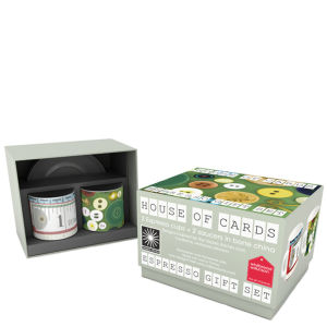 Eames Office House of Cards Espresso Gift Set of 2 - Buttons and Tape Measures