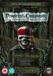 Pirates of the Caribbean DVD Boxset (1-4)