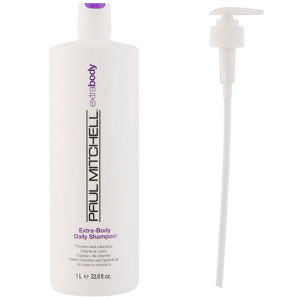Paul Mitchell Extra Body Shampoo (1000 ml) with Pump (Bundle)