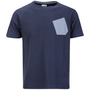 Boxfresh Männer Liwaey Chambray Tasche T-Shirt - Marineblau Marl