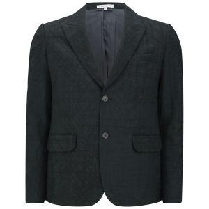 Carven Men's Imprint Flannel 2-Button Jacket - Dark Green