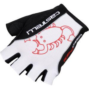 Castelli Rosso Corsa Pave Classic Gloves - White/Black