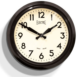 Newgate 50s Electric Clock - Black