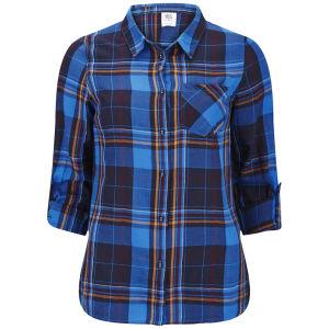 Vero Moda Women's Tulle Checked Shirt - Black Iris
