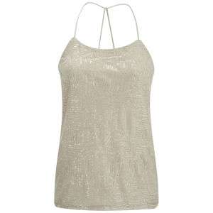Vero Moda Women's Katty Sequin Top - Oatmeal