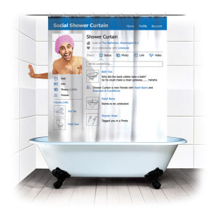 Social Media Shower Curtain