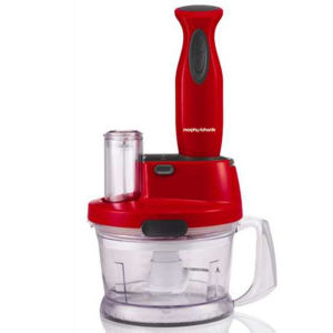 Morphy Richards Accents Hand Blender Work Centre - Red
