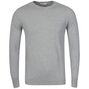 Boxfresh Men's Gafna 14 Gauge Crew Neck Sweater - Grey Marl