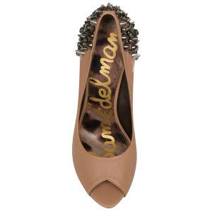 85fbd0649 Sam Edelman Women s Lorissa Studded Heels - Nude Womens Footwear ...