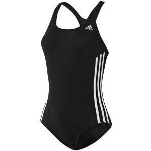 adidas Women's 3 Stripe Authentic Swimsuit - Black/White