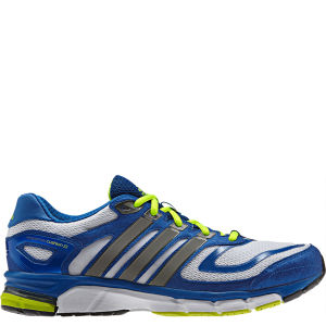 Adidas Men's Response Cushion 22 Running Shoe - White/Tech Silver Met/Blue Beauty