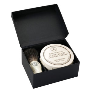 Taylor of Old Bond Street Pure Badger and Sandalwood Shaving Cream Set: Image 1