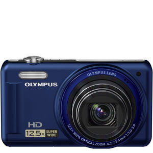 Olympus VR-320 Digital Camera (14MP, 12.5x Super Wide Optical Zoom, 3-Inch LCD) - Blue