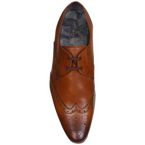 efd55cbaa1bd Ted Baker Men s Nenoi Pointed Leather Derby Shoes - Tan  Image 4