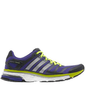 Adidas Women's Adistar Boost Running Shoe - Blast Purple/Tech Silver Met/Electricty