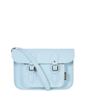 Zatchels 11.5 Inch Pastel Leather Satchel - Baby Blue