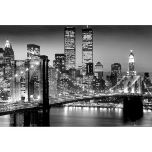 New York Manhattan Black - Maxi Poster - 61 x 91.5cm