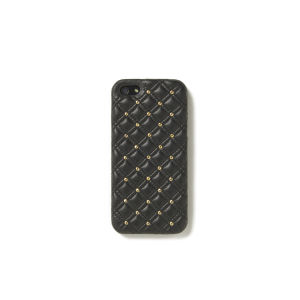 The Case Factory Women's iPhone 5 Case - Studs Nappa Black