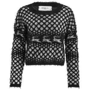 Vero Moda Women's Novelty Christmas Jumper - Black