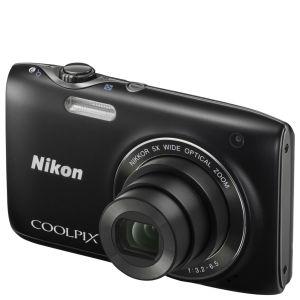 Nikon Coolpix S3100 Compact Digital Camera - Black (14MP, 5x Optical Zoom, 2.7 Inch LCD) - Grade A Refurb