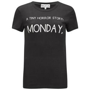 Wildfox Women's Tiny Horror Story Tourist Crew T-Shirt - Jet Black