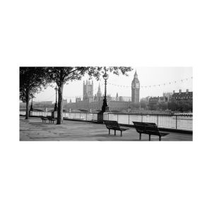 Anon Houses of Parliament and the River Thames Art Print (50x100)