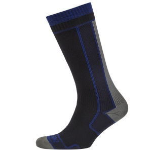 SealSkinz Thin Mid Length Socks - Black/Grey