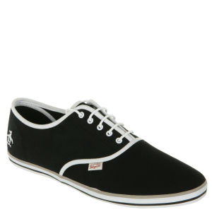Original Penguin Men's Sam Canvas Trainers - Black
