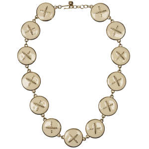 Laura Biagiotti Vintage Gold Plated Enamel Chain Necklace