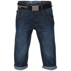 Smith & Jones Men's Belted Trip Denim Shorts - Midwash