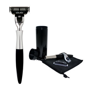 eShave Travel Razor with Canister (Black)