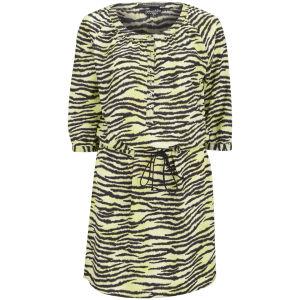 Maison Scotch Women's Zebra Silky Shirt Dress - Yellow
