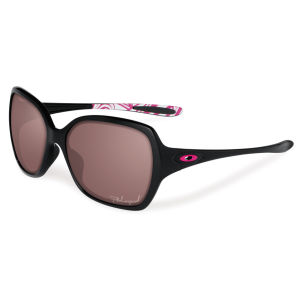 Oakley Women's Overtime Polished Polarized Sunglasses - Black