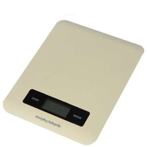 Morphy Richards 46182 Electronic Kitchen Scales - Cream
