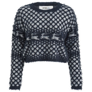Vero Moda Women's Novelty Christmas Jumper - Black Iris