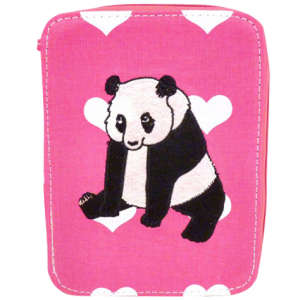 Kate Garey Panda Make-up & Brush Case