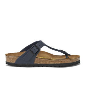 Birkenstock Women's Gizeh Toe-Post Leather Sandals - Blue